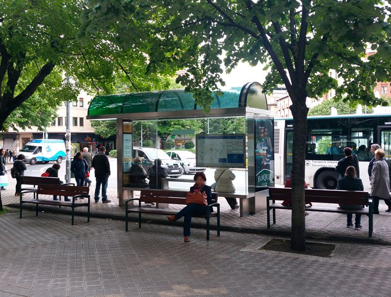 Current Pamplona´s Bus shelter